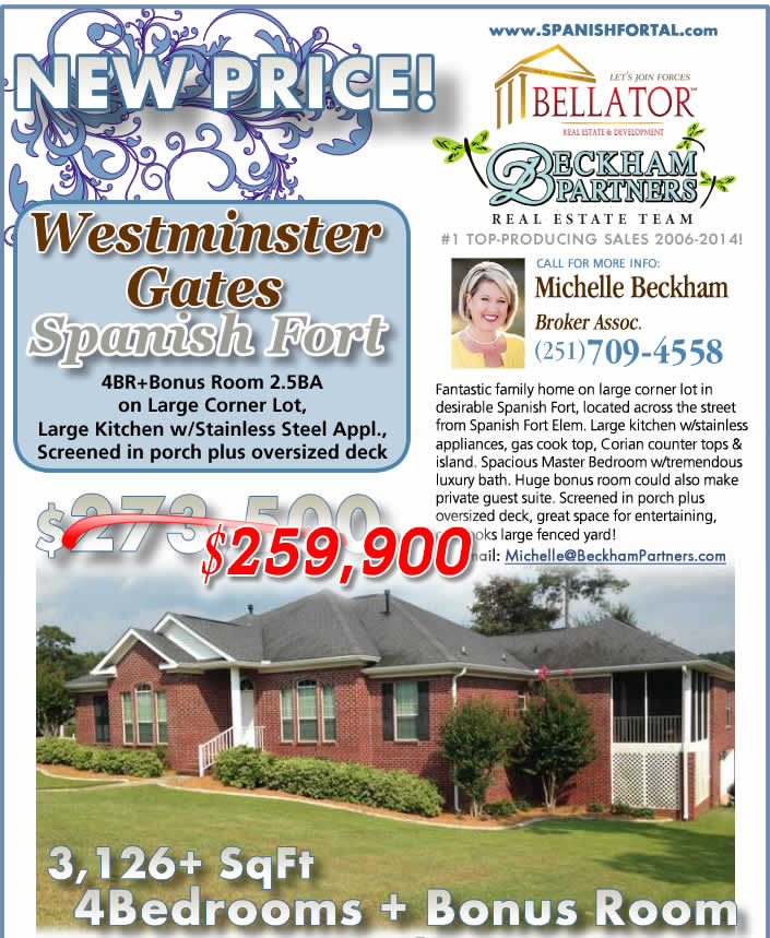 Spanish Fort Home for Sale in Westminster Gates